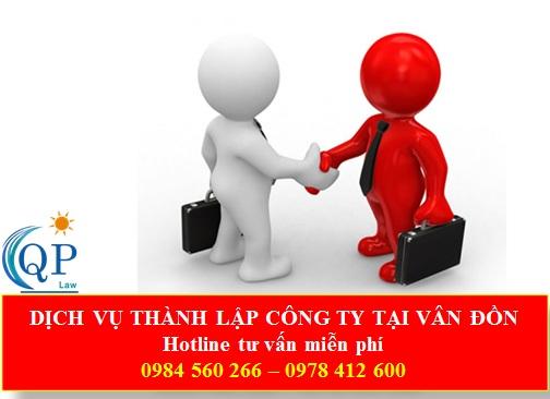 Dịch vụ thành lập công ty tại Vân Đồn