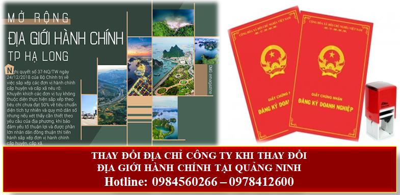 Thông báo chuyển địa chỉ công ty khi thay đổi địa giới hành chính tại Quảng Ninh