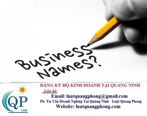 Cách đặt tên Hộ kinh doanh tại Quảng Ninh