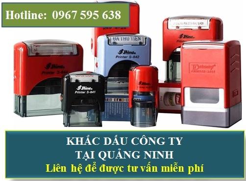 Khắc con dấu công ty tại Quảng Ninh
