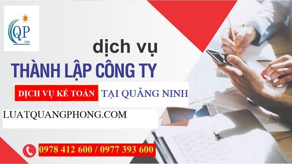 Thành lập công ty dịch vụ kế toán tại Quảng Ninh
