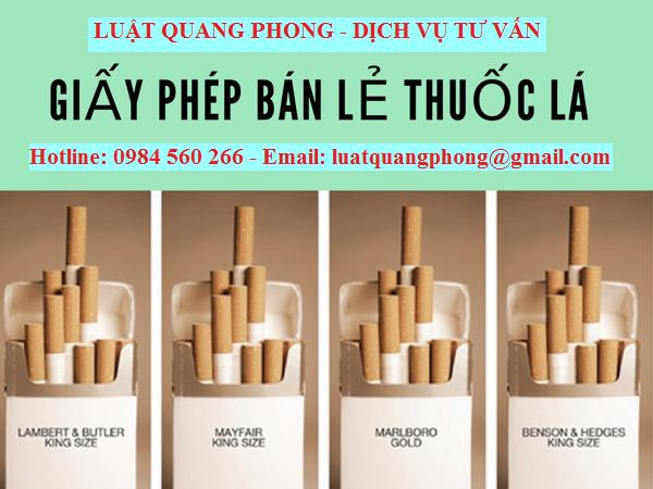Thủ tục xin cấp giấy phép kinh doanh bán lẻ thuốc lá tại Quảng Ninh