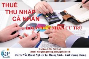 Cách tính thuế TNCN đối với cá nhân cư trú