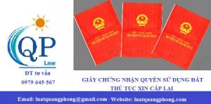 Cấp lại giấy chứng nhận quyền sử dụng đất tại Quảng Ninh