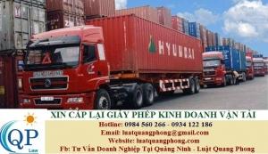 Cấp lại Giấy phép kinh doanh vận tải bằng xe ô tô tại Quảng Ninh