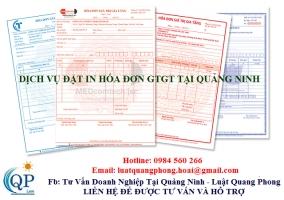 Dịch vụ đặt in hóa đơn GTGT tại Quảng Ninh