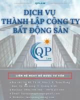 Dịch vụ thành lập công ty bất động sản tại Móng Cái