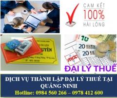 Dịch vụ thành lập đại lý thuế tại Quảng Ninh