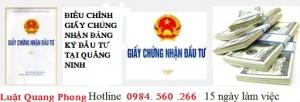 Điều chỉnh giấy chứng nhận đầu tư tại Quảng Ninh