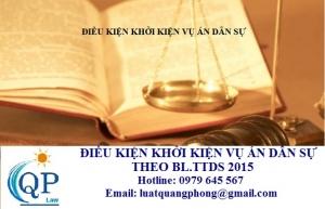 Điều kiện khởi kiện vụ án dân sự theo bộ luật tố tụng dân sự 2015