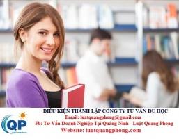 Điều kiện thành lập công ty tư vấn du học tại Quảng Ninh