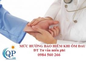 Mức bảo hiểm xã hội khi ốm đau