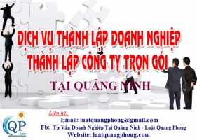 Thành lập công ty tại Quảng Ninh - Tặng chữ ký số, Miễn phí 3 năm tư vấn