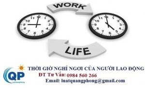 Thời giờ nghỉ ngơi dành cho người lao động