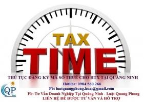 Thủ tục đăng ký mã số thuế cho hợp tác xã tại Quảng Ninh