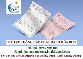 Thủ tục thông báo phát hành hóa đơn