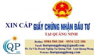 Thủ tục xin cấp giấy chứng nhận đầu tư tại Quảng Ninh