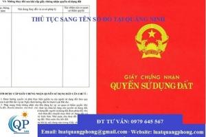 Tư vấn sang tên sổ đỏ tại Quảng Ninh