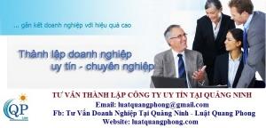 Tư vấn thành lập công ty uy tín tại Quảng Ninh