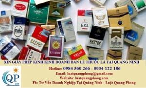 Xin cấp giấy phép kinh doanh bán lẻ thuốc lá tại Quảng Ninh