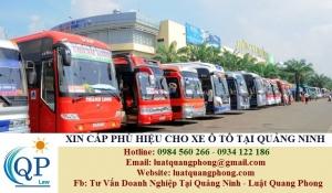 Xin cấp phù hiệu cho xe ô tô tại Quảng Ninh