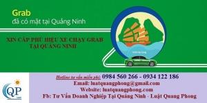 Xin cấp phù hiệu xe chạy Grab tại Quảng Ninh